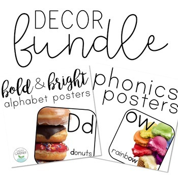 Alphabet and Phonics Posters with Photographs BUNDLE