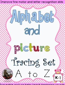 Alphabet and Picture Tracing Set A to Z