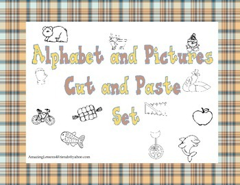 Alphabet and Pictures Cut and Paste Set