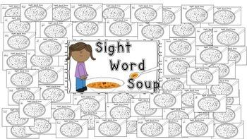 Alphabet and Sight Word Soup Bundle