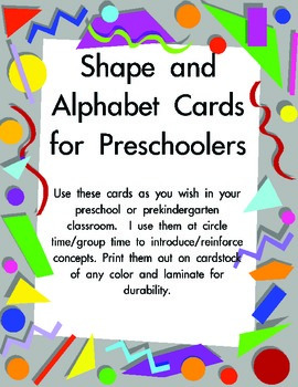 Alphabet and Shape Cards