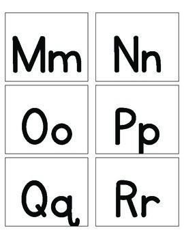 Alphabet and Shape Cards