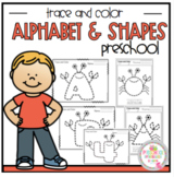 "Alphabet and Shapes Trace and Color ""No Prep"""