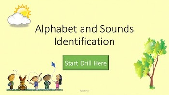Alphabet and Sounds BUNDLE (2 PowerPoint,2 Flashcards and Progress Chart)
