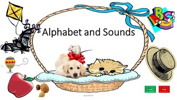 Alphabet and Sounds BUNDLE (2 PowerPoint,2 Flashcards and