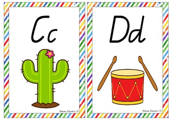 Alphabet and Sound Cards Posters ON SALE!