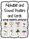Alphabet and Sound Posters and Cards (Black and White Border)