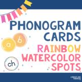 Phonogram Cards : Phonogram Practice, Games and Display (Watercolor Spots)
