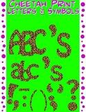 Alphabet Letters Clipart - Cheetah
