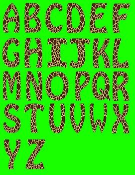 Alphabet Letters Clipart - Giraffe