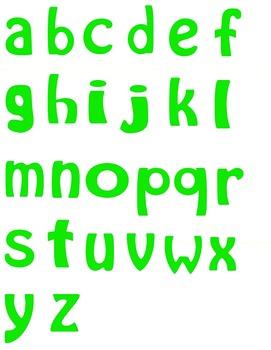 Alphabet Letters Clipart - Green