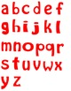Alphabet Letters Clipart - Red