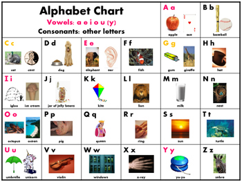 Alphabet and Vowel Charts