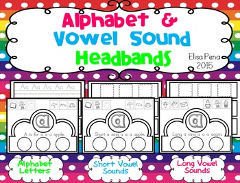 Alphabet and Vowel Sound Headbands