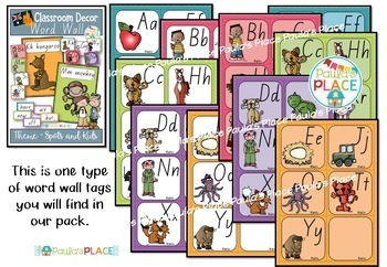 Alphabet and Word Wall Pack – Classroom Décor in QLD Font