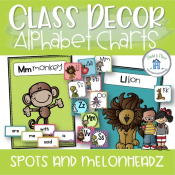Classroom Decor - Alphabet and Word Wall Posters - Spots and Melonheadz