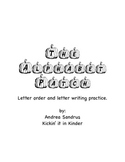Alphabet and letter practice