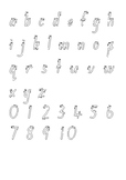 Alphabet and number tracing activity - Foundation Font