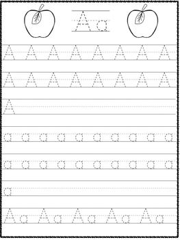 Alphabet and number tracing sheets