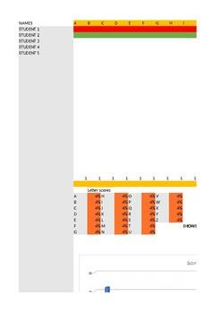 Alphabet assessment spreadsheet