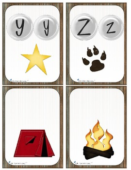 Alphabet au camping  (Letter and number Recognition & Identification activities)