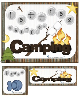 Alphabet au camping  (Letter and number Recognition & Iden