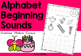 Alphabet worksheets - beginning / initial sounds - Victorian Modern Cursive