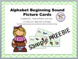 Alphabet beginning sound picture cards - Sample FREEBIE
