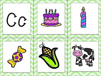 Alphabet beginning sound picture cards - Sample FREEBIE