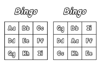 Alphabet bingo cards