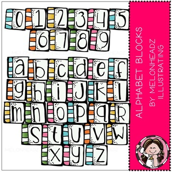 Melonheadz: Alphabet Blocks clip art
