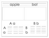 Alphabet Handwriting book w- Treasures Sound Spelling Card names (Ball & Stick)