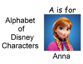 Alphabet book of Disney Characters
