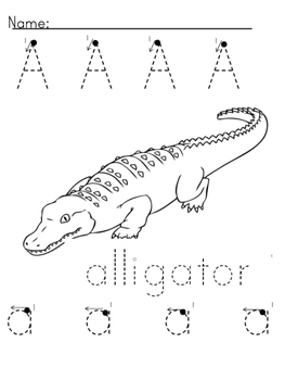 Alphabet book pages Capital and Lowercase Precious Preschoolers