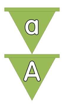 Alphabet bunting in upper and lower case for display