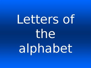 Alphabet capital and lower case letter recognition COMMON CORE and TEKS