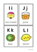 Alphabet card (food abc order)