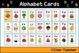 Alphabet card (food abc order)