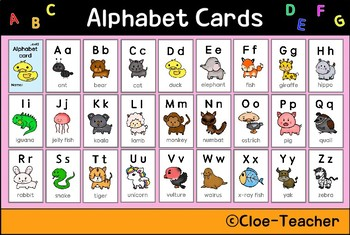 Alphabet card step2 (animal abc order)