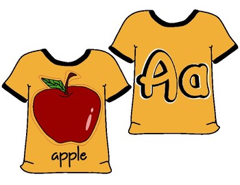 Alphabet cards / T-shirt / classroom decor/ flashcards