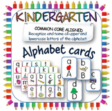 Alphabet cards in upper and lower case