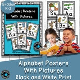 Alphabet cards with Pictures Classroom Decor