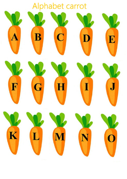 Alphabet carrot english