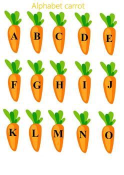 Alphabet carrot english