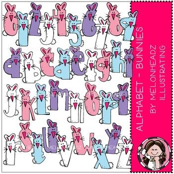 Alphabet clip art - Bunnies - COMBO PACK - by Melonheadz