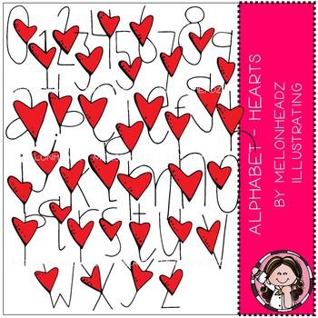 Alphabet clip  art - Hearts - COMBO PACK - by Melonheadz