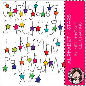 Alphabet clip art - Stars - COMBO PACK - by Melonheadz