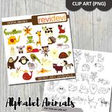 Alphabet clip art animals