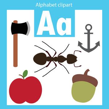 Alphabet clip art letter A Beginning sounds