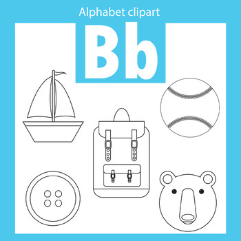 Alphabet clip art letter B Beginning sounds